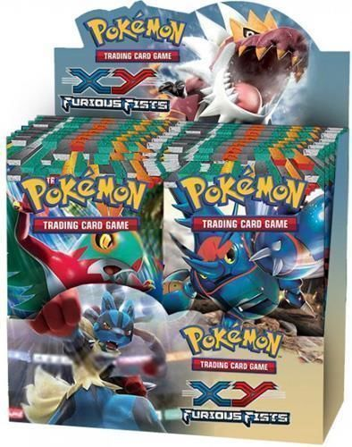 Pokemon TCG XY Furious Fists 12 Booster Pack Lot 1/3 Booster Box