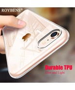 Roybens®IPhone 8 Plus Case Roybens Durable Flexible Transparent Silicone... - $4.94