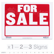 """FOR SALE Sign — 9x12"""" inch Weatherproof Plastic : Sell Cars, Property x ... - $3.01+"""