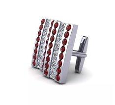 925 Sterling Silver Genuine Garnet And Cz Gemstone Artistic Design Handcrafted M image 3