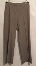 Ann Taylor Sz 4 Brown and Beige Checked Polyester Blend Pants - $19.79