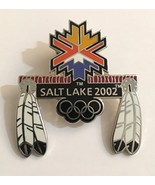 Rare 2002 Salt Lake City Winter Olympics Native American Feather Logo Pi... - $22.72