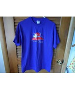 Ladies size M ( 38-40) purple T-shirt w/ red hat  by Hanes - $8.00