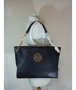 NWT Tory Burch Black Pebbled Leather Small Britten Slouchy Tote - $443.52