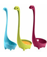 1pc Kitchen Supplies Dinosaur Spoons Soup Loch Ness Ladle Long Handle Spoon - £2.87 GBP