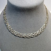 """VTG 1990s Sterling Silver Braided Serpentine Chain 20"""" Necklace 23.3 Grams - $41.58"""