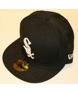 MLB Chicago White Sox New Era 59FIFTY Fitted Monogram Black Baseball Siz... - $39.99