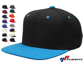 12 Lot Classic Snapback Snap Back Baseball Blank Plain Hat Caps Yupoong ... - $77.00