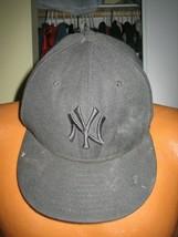 NEW YORK YANKEES BASEBALL WOOL HAT CAP ADULT NEW ERA SIZE 7 5/8 MLB NY 5... - $10.00