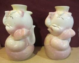 Hull Leeds Elephant Decanter Bottle Pottery - set of two - $56.95