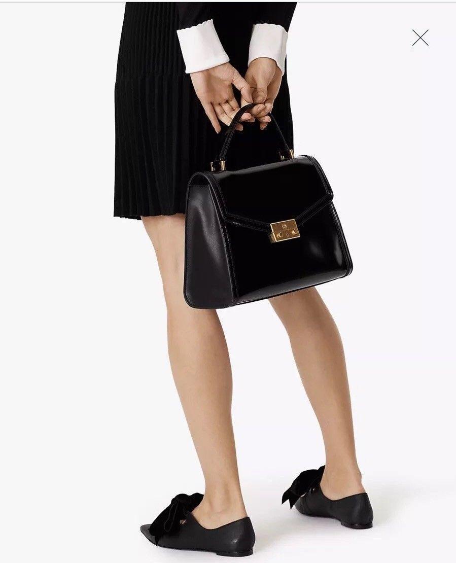 tory burch juliette top handle satchel Black $558 In Original Packaging