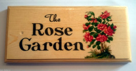 The Rose Garden Sign, Nanny Gift Mothers Day Shed Allotment House Name M... - $11.20