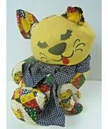 """Vtg 1969 Samet & Wells 14"""" Multicolor Patchwork Kitten Cat Stuffed Plush... - $45.82"""