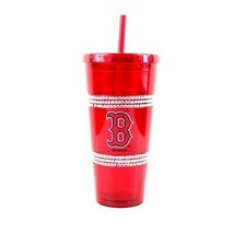 Boston Red Sox 22oz Double Bling with Straw Tumbler - MLB - $11.63