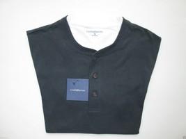 Croft&Barrow Contrast Crewneck Short Sleeve Men's Henley T-Shirt M ASPHA... - $12.10