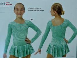 Mondor Model 2769 Girls Skating Dress - Icy Mint Size Adult Medium - $85.00
