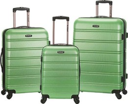 Rockland Melbourne 3 Piece Luggage Set $480 - NEW - FREE SHIPPING - in G... - $184.09