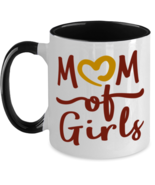 Mother Of Girls (MOG) - 11 oz Black Two-Tone Coffee Mug  - £13.07 GBP