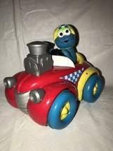 Sesame Street Tyco 1998 Cookie Monster Hot Rod Racer Push N Go Jim Hensen - $14.84