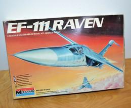 Vintage MONOGRAM EF-111 RAVEN Model Kit 1984 1/72 Scale Partially Built Complete - $10.69