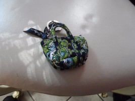 Vera Bradley Cambridge mini Miller keychain  - $22.00