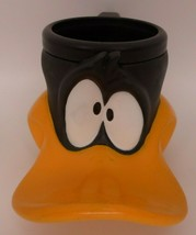 Vintage 1995 Molded Plastic Looney Tunes Daffy Duck Cup Mug by Applause - Child - $17.95