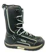 5150 Brigade Kids Size 5 Black High Top Snowboard Boots Stiff Boot - $30.77