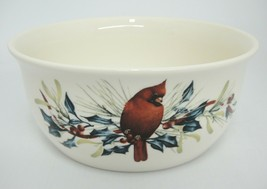Lenox Winter Greetings 1.5 Qt Round Covered Casserole Dish Catherine McClung - $24.74
