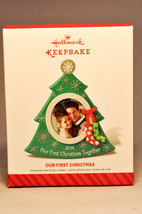 Hallmark  Our First Christmas  Tree  Photo Holder  Premier Event   Re-Paint - $13.75