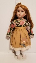 18in Prairie Victorian Porcelain Doll with stand - $17.33