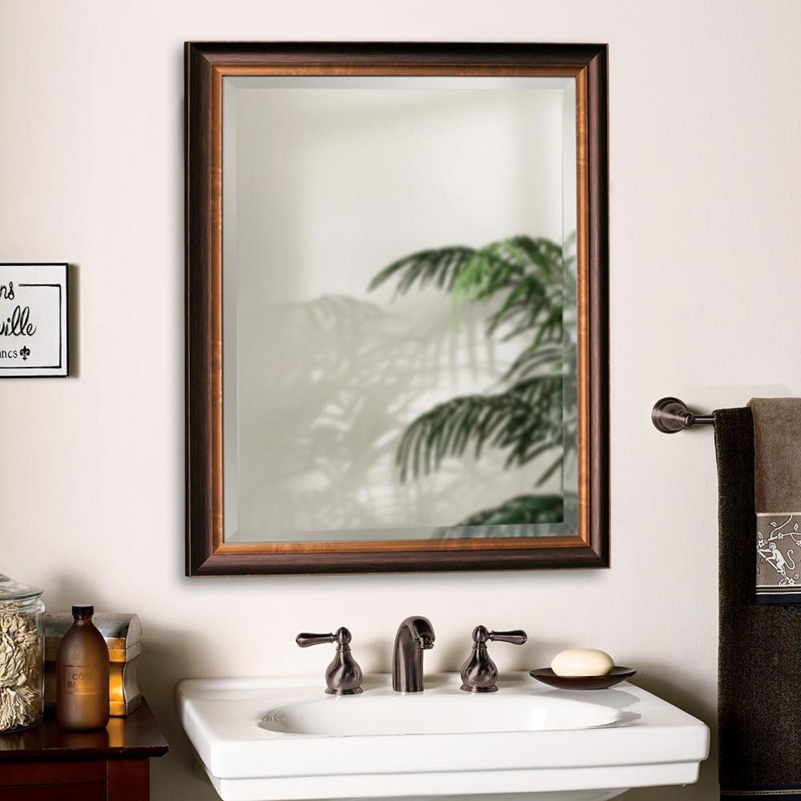 Bathroom Vanity Mirror 32 Inch X 26 Inch Oil Rubbed Bronze