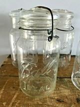 Vtg Ball Ideal - Quart Mason Canning Jar Lot Of 5 - Clear Wire Bail & Glass Lid - $58.05