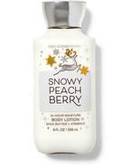 BATH AND BODY WORKS BODY LOTION 8 FL OZ  SNOWY PEACH BERRY   - £10.89 GBP