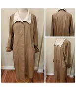 Weather Master Vintage Women's Trench Coat Rain Jacket Tan Long Light We... - $111.59