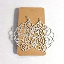 Silver Medallion Earrings, Filigree Medal Earrings, Metal Medallion Earrings