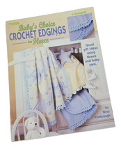 Baby's Choice Crochet Edgings for Fleece Leisure Arts #3485 6 Designs Ki... - $12.81