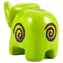 SMOLArt Hand Carved Soapstone Lime Green Elephant Figurine Made in Kenya image 2