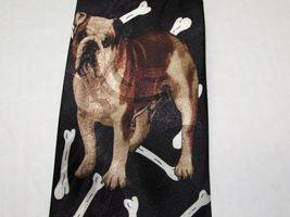 Bulldog French English Dog Bone Necktie Tie Fratello UGA Georgia Yale Gonzaga image 3