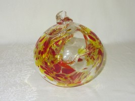 Vintage Blown Glass Clear Witch Ball Ornament Fishing Float Orb Studio Art - $39.59