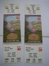 Season Tickets for 2001 Cubs Games, June 5 and July 12-Two Cubs Grand Slams - $8.24