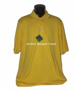NWT BOBBY JONES Golf XL polo shirt sail yellow Peruvian Pima cotton high... - $48.49