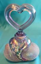 Fenton Handpainted Iridescent Purple Perfume Bottle with Stopper. - $95.00