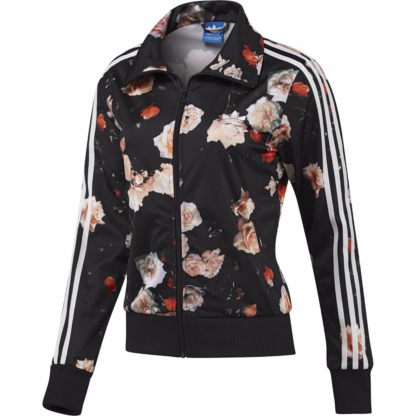 8e58d1c41c6 New Adidas Firebird Track Top Floral Roses and 50 similar items. S l1600