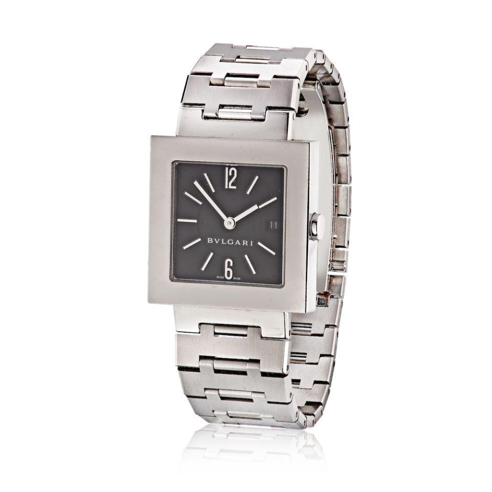 Primary image for Bvlgari Stainless Steel Black Square Dial BB29 Unisex Watch
