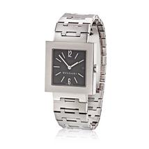 Bvlgari Stainless Steel Black Square Dial BB29 Unisex Watch - $39,000.00