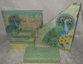 15 Pc Set Punch Studio Peacock Desk File Folders Mail Magazine Organizer... - €62,76 EUR
