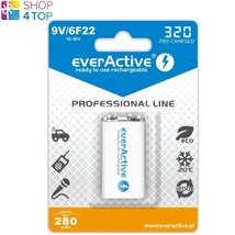 EVERACTIVE SILVER LINE 6F22 RECHARGEABLE BATTERY 9V E BLOCK 200mAh NEW - $9.88