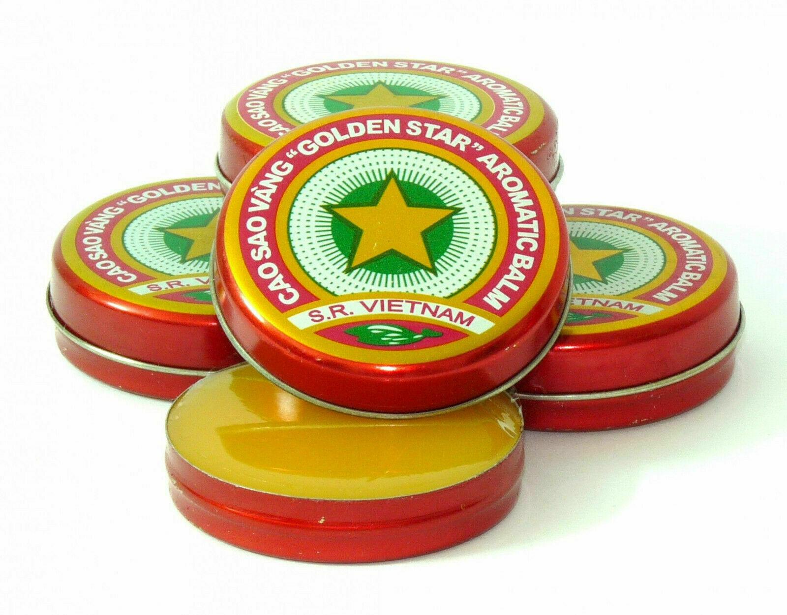 Vietnam Oil Cao Sao Vang 4g - Muscle Ache - Headache - Sinus relief (Pack of 5 )