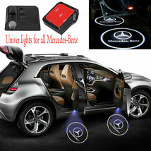 2 pcs Wireless LED Car Logo Door Light Welcome Ghost Lights for Mercedes Benz - $12.95