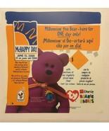 Mcdonalds 2000 Millenium Bear 20x20 Translite Teanie Beanie Babies Ad Sign - $9.49